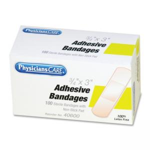 "PhysiciansCare Adhesive Refill Bandage -Yellow-1 Box  0.75"" Width x 3"" Length"
