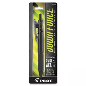 Pilot Down Force BallPoint Pen - Fine Pen Point Type - 0.7 mm Pen Point Size - Point Pen Point Style - Black Ink - Black Barrel