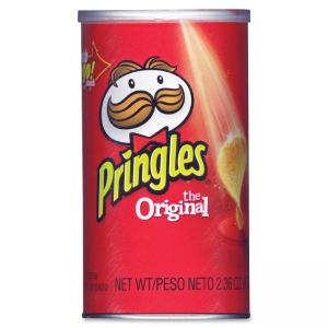 Kelloggs Pringles Grab/Go Original Potato Crisps - Original - Can - 1 Serving Can - 2.38 oz - 12 / Carton