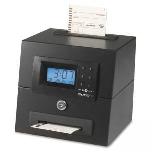 Pyramid 5000HD Heavy Duty Auto Totaling Time Clock - Card Punch/Stamp - 100 Employee