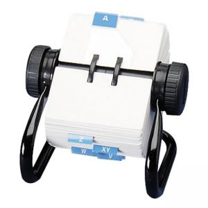 "Rolodex Open Classic Rotary File 500 Card Black 2.25"" x 4"""
