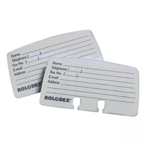 Rolodex Petite List Finder Card Refill White