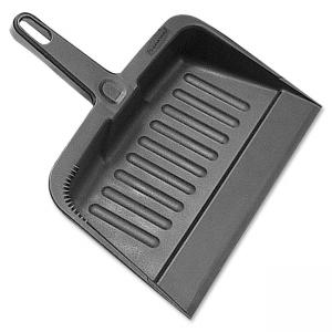 "Rubbermaid 2005 Heavy-Duty Dust Pan - 8.25"" Wide - 12.25"" - Plastic - Charcoal"