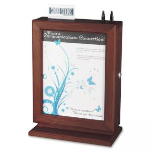 "Safco Customizable Wood Suggestion Box - 14.5"" Height x 10.5\"" Width x 5.8\"" Depth External Dimensions - Wood, Plexiglas - Maho"