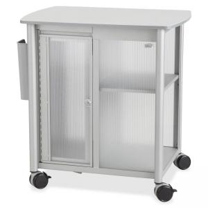"Safco Impromptu Personal Mobile Storage Center - 1 Shelf - 200 lb Capacity - 4 x 2.50"" Caster - Steel, Polycarbonate, Melamine"
