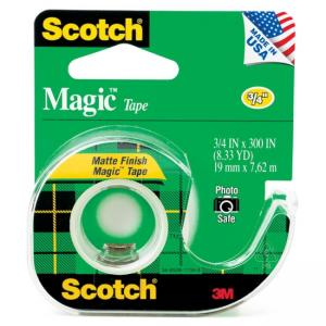 Scotch Magic Tape with Handheld Dispenser - Width 0.75""