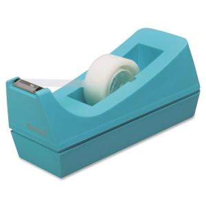 "Scotch Desk C38 Tape Dispenser - Holds Total 1 Tape(s) - 1"" Core - Impact Resistant, Non-skid Base - Plastic - Blue"