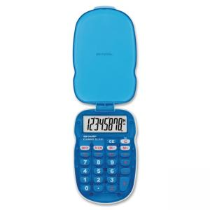 "Sharp Simple Calculator - 8 Character(s) - LCD - Battery Powered - 4.2"" x 2.8\"" x 0.4\"" - Blue"
