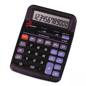 SKILCRAFT 12-Digit Dual Powered Desktop Calculator - 12 Character(s) - Solar, Battery Powered