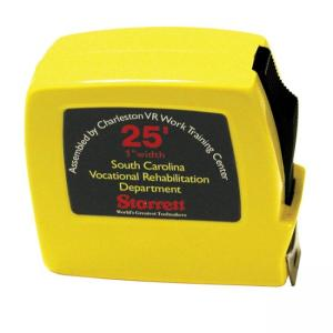 "SKILCRAFT 25 Foot Tape Measure - 25ft Length 0.75"" Width - 1/16, 1/32 Graduations - Metric Measuring System - Steel - 1 Each -"