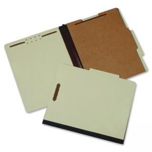 "Skilcraft 4-Part Classification Folder - Letter - 8.5"" x 11\"" - 1/3 Tab Cut - 1 Dividers - 2\"" Expansion - 2 Fastener - 100 / B"