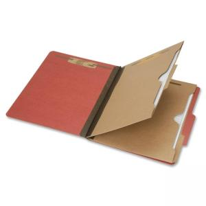 "Skilcraft 6-Part Letter Size Classification Folder - Letter - 8.50"" x 11\"" - 2 Dividers - 2\"" Expansion - 6 - 25 pt. - Pressboa"