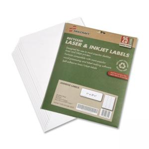 "Skilcraft 7530-01-578-9290 Address Label - 1"" Width x 2.62\"" Length - 250 / Pack - Rectangle - 30/Sheet - Laser, Inkjet - White"