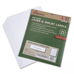 "Skilcraft 7530-01-578-9297 Extra Large File Folder Label - 0.94"" Width x 3.44\"" Length - 25 / Pack - Rectangle - 18/Sheet - Las"