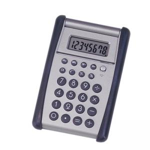 SKILCRAFT 8-Digit Flip-up Calculator - 8 Character(s) - Black, Silver