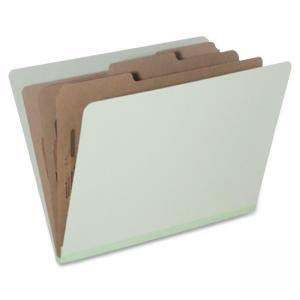 "Skilcraft Eight Section Classification Folder - Letter - 8.5"" x 11\"" - 6 Dividers - 3\"" Expansion - 10 / Pack - Light Green"
