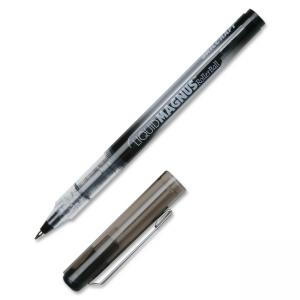 SKILCRAFT Free Ink Rollerball Pen - 0.5 mm Pen Point Size - Black Ink - 12 / Box