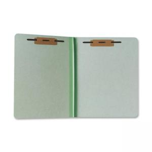 "Skilcraft Heavy-Duty Pressboard File Folder - Letter - 8.5"" x 11\"" - 1\"" Expansion - 100 / Box - Green"