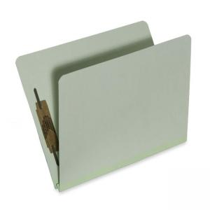 "Skilcraft Heavy-Duty Top Tab File Folder - Letter - 8.5"" x 11\"" - 2 Fastener - 1\"" Capacity - 25 / Box - 25pt. - Light Green"