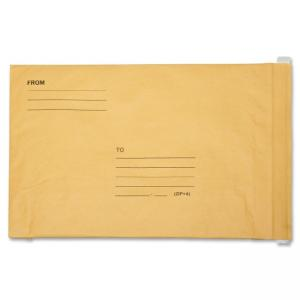 "Skilcraft Kraft Lightweight Cushioned Mailer - Bubble - 14.25"" x 20\"" - Peel & Seal - Kraft - 50/Pack - Satin Gold"