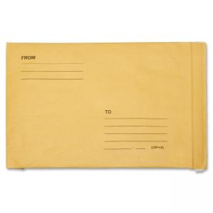 "Skilcraft Kraft Lightweight Cushioned Mailer - Bubble - 9.50"" x 14.50\"" - Peel & Seal - Kraft - 100/Pack - Satin Gold"