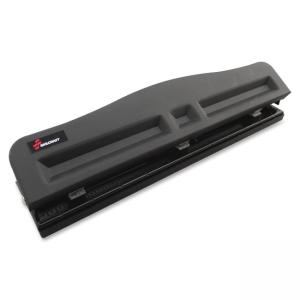 "Skilcraft Light-duty Metal Hole Punch - 3 Punch Head(s) - 10 Sheet Capacity - 9/32"" - Black"