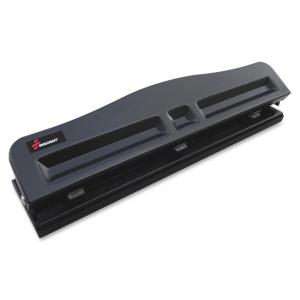 "Skilcraft Light-duty Metal Hole Punch - 3 Punch Head(s) - 8 Sheet Capacity - 9/32"" - Black"