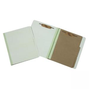 "SKILCRAFT Pressboard Classification Folder - Letter - 8.5"" x 11\"" - 2 Dividers - 2\"" Capacity - 10 / Box - 25pt. - Green"
