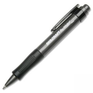 Skilcraft Retractable Wide Body Ballpoint Pen - Black Ink - Black Barrel - 12 / Box