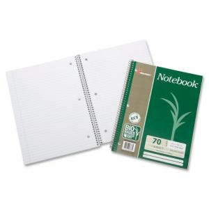 "Skilcraft Single-subject Wirebound Notebook - 70 Sheet - 16 lb - College Ruled - 8"" x 10.50\"" - 3 / Pack - White Paper"