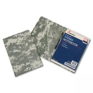 Skilcraft Steno Notebook Vinyl Pad Holder - Vinyl, LeatherGrain - Camouflage - 1 Each