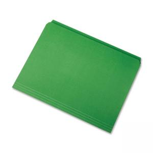 "Skilcraft Straight Cut Colored File Folder - Letter - 8.50"" x 10.98\"" - 11 pt. - Green - 100 / Box"