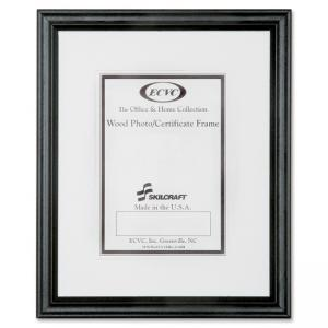 "Skilcraft Style A Ready-made Wood Frame - 11"" x 14\"" Frame Insert - Wall Mountable - Vertical, Horizontal - Wood - Black"