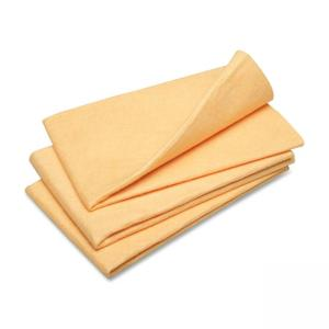 "Skilcraft Synthetic Shammy Cleaning Cloth - 3 / Pack - 23"" x 20\"" - Orange"