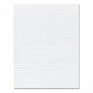 "Skilcraft Writing Pad - 100 Sheet - 16lb - Wide Ruled - Letter 8.5"" x 11\"" - 12 / Pack - White"