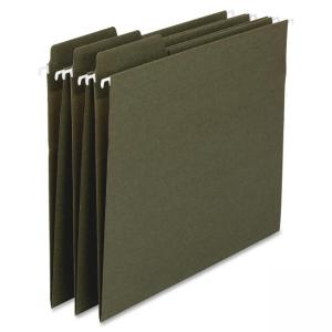 "Smead 100% Recycled FasTab® Hanging Folder 64037 - Letter - 8.50"" x 11\"" - 1/3 Tab Cut on Assorted Position - 11 pt. - Stan"