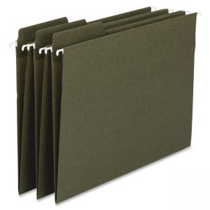 "Smead 100% Recycled FasTab® Hanging Folder 64137 - Legal - 8.50"" x 14\"" - 1/3 Tab Cut on Assorted Position - 11 pt. - Stand"