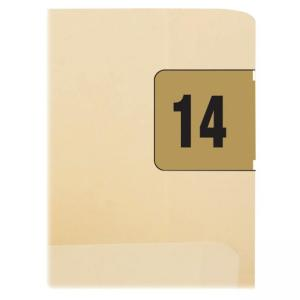 "Smead ETYJ Color-Coded Year Labels 68314 - 1.50"" Width x 0.75\"" Length - 1 / Box - Rectangle - 500/Roll - Gold"