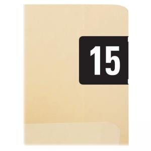 "Smead ETYJ Color-Coded Year Labels 68315 - 1.50"" Width x 0.75\"" Length - 1 / Box - Rectangle - 500/Roll - Black"