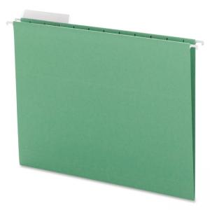 "Smead Hanging File Folder with Tab 64022 - Letter - 8.50"" x 11\"" - 1/3 Tab Cut on Assorted Position - 11 pt. - Green"
