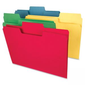 "Smead SuperTab® Heavyweight File Folder 10410 - Letter - 11.63"" x 9.50\"" - 1/3 Tab Cut on Assorted Position - 0.75\"" Expans"