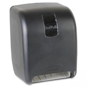 "Georgia-Pacific SofPull High-Capacity Automated Roll Towel Dispenser - Roll - 16"" x 12"" x 9.8"" - Black"