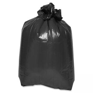 "Special Buy Flat Bottom Trash Bags - 58"" x 38\"" - 2 mil (51 µm) Thickness - Low Density - 100/Carton - Black"