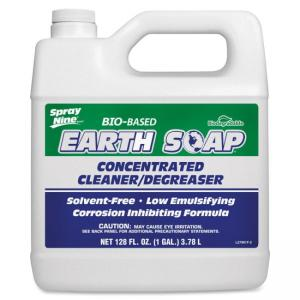 Permatex Spray Nine Earth Soap Cleaner/Degreaser - Liquid Solution - 128 fl oz (4 quart) - Clear