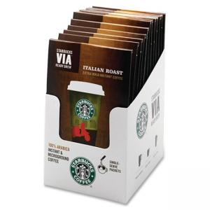 Starbucks VIA Ready Brew Italian Roast Coffee Instant - Regular - Colombian Italian Blend - Dark/Bold - 8 / Box