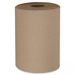 "Stefco Hardwound Natural Paper Towel - 1 Ply - 12 / Carton - 5.50"" Roll Diameter - Natural"