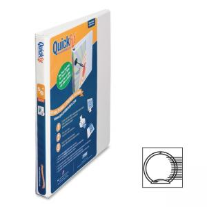 "Stride QuickFit Round Ring Unique Design Binder - Letter - 8.50"" x 11\"" - 2 PocketsRound Ring Fastener - 100 Sheet - 0.50\"" Cap"
