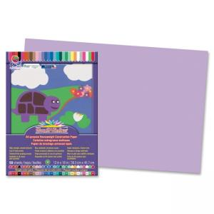 "Pacon SunWorks Groundwood Construction Paper - 18"" x 12"" - Lilac"