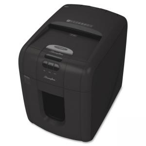 Acco Swingline Stack-and-Shred 100M Hands Free Shredder - Micro Cut - 100 Per Pass - 7 gal Waste Capacity