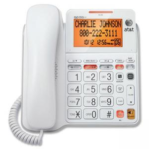 Vtech AT&T CL4940 Standard Phone - White - 1 x Phone Line - Answering Machine - Caller ID - Speakerphone